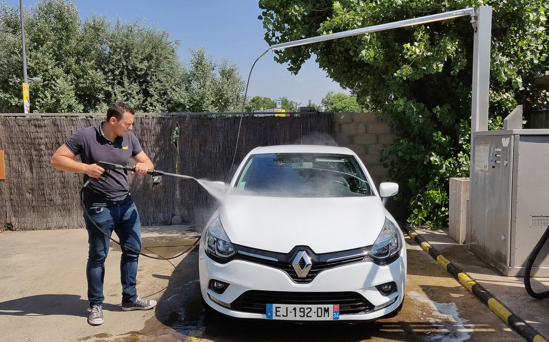 station lavage vehicules legers rincage haute pression eau webpage